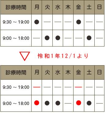 HP診療時間の変更2